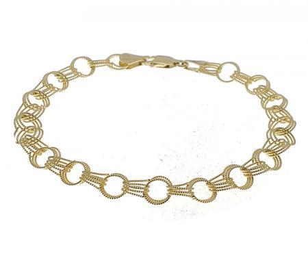 14k yellow gold fancy 7'' bracelet