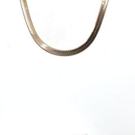 14k YG silky herringbone chain 18