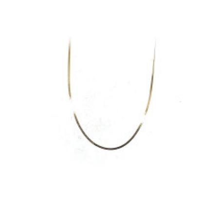 14k yellow gold silky herringbone chain