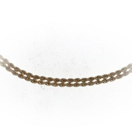 14k yellow gold 18 double diamond cut rope chain 18 inch (1)