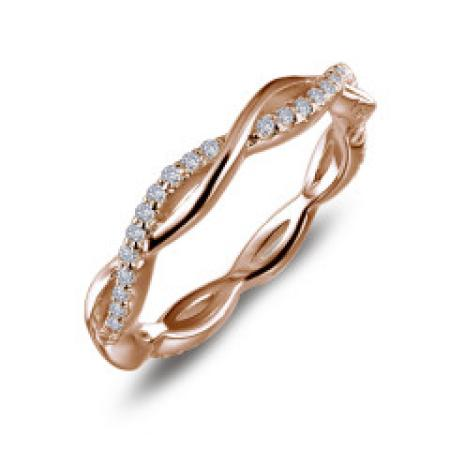 Lafonn .52ct Twist Rose Gold Band