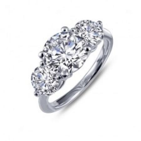 Lafonn classic 3 stone engagement ring 2.99ctw