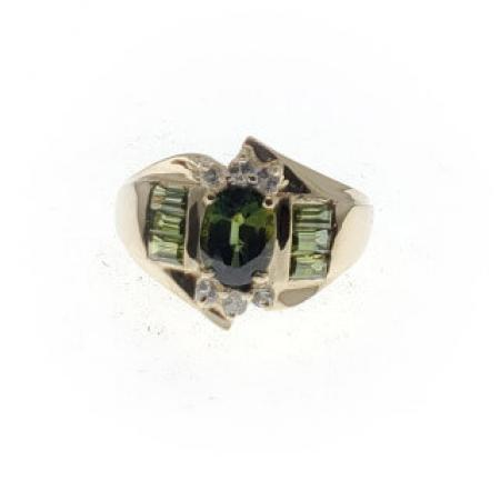 14kyg green tourmaline ring (1)