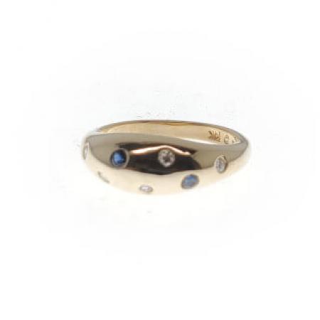 14kyg sapphire diamond ring (1)