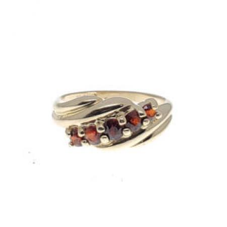 14kyg garnet fashion ring (1)