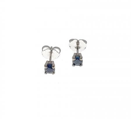 14K White Gold Sapphire Earrings