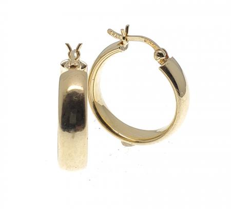 14K Yellow Gold Medium Hoop Earrings