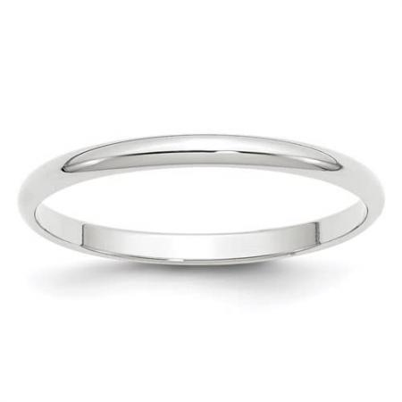 14kt White Gold Polished Band