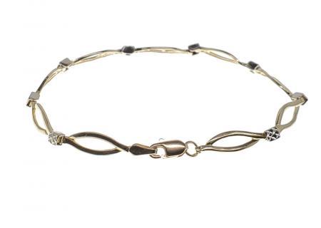 14K Two Tone Bracelet