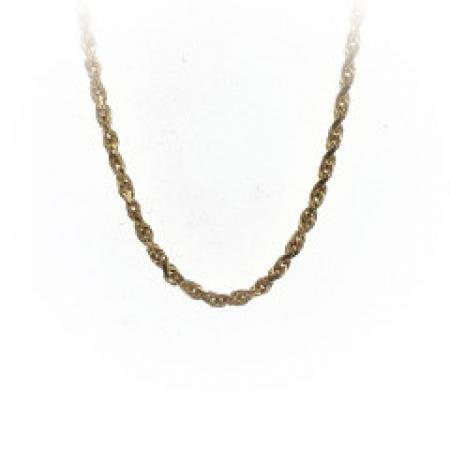14K Yellow Gold 18 Inch Rope Chain