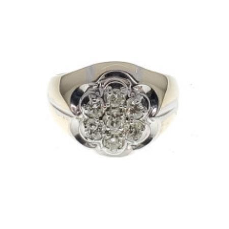 14 Karat Yellow and White Gold Diamond Ring