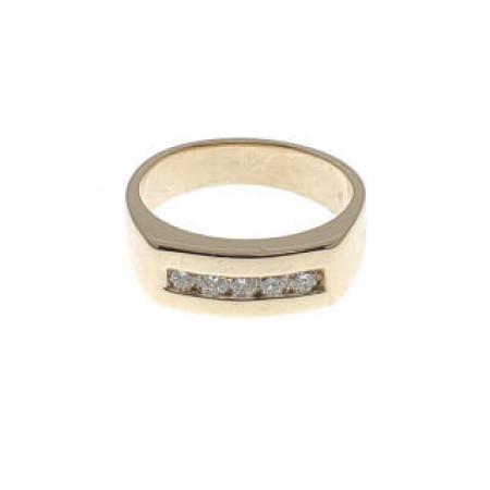 14k yellow gold .25ctw diamond ring (1)