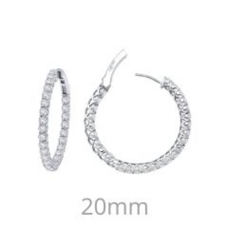 Lafonn 2ctw Simulated Diamond Inside Out Hoops PLT