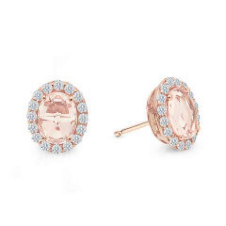 Lafonn 2.9ctw simulated diamond and morganite earrings