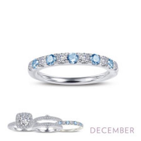 Lafonn Simulated Diamond & Blue Topaz Ring PLT
