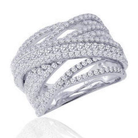 Lafonn 2.37ctw simulated diamond criss cross ring