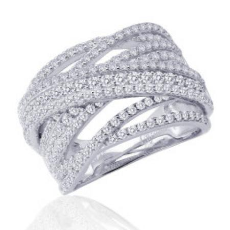 Lafonn 2.37ctw Simulated Diamond Criss Cross Ring