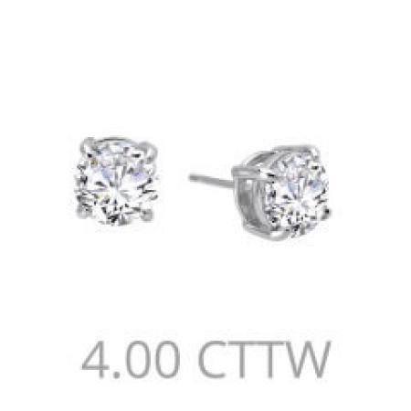 Lafonn 4ctw simulated diamond earrings