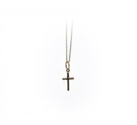 14k Yellow Gold Small Cross Pendant