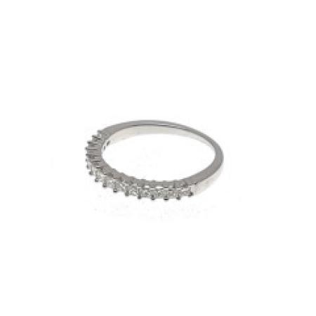 WG .35ctw princess cut diamond anniversary ring