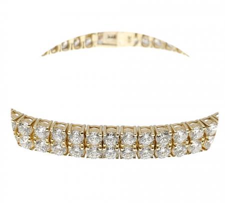 10K Yellow Gold CZ Bracelet
