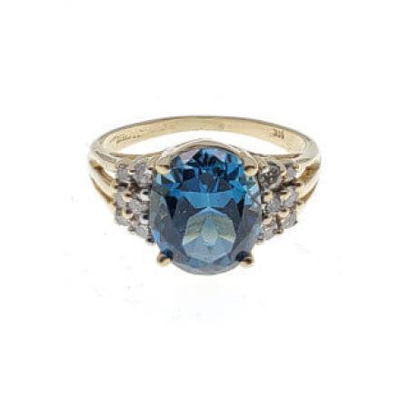 14k yellow gold blue topaz ring (1)