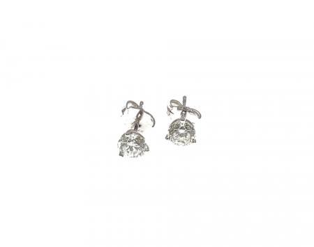 14K White Gold .98 ct tw Diamond Earrings