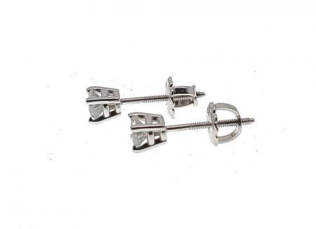 14K White Gold .53 ct tw Diamond Earrings