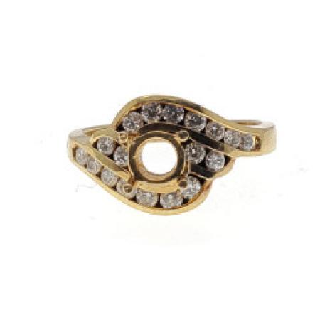 18 K Yellow Gold Diamond Ring Mounting