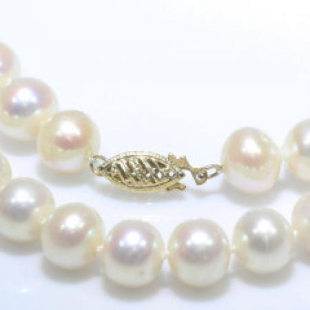 17.5''Freshwater Pearl Strand 14k Yellow Gold Clasp