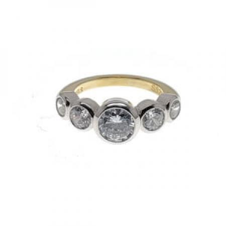 5 Stone Bezel Set Engagement Ring2 (2)