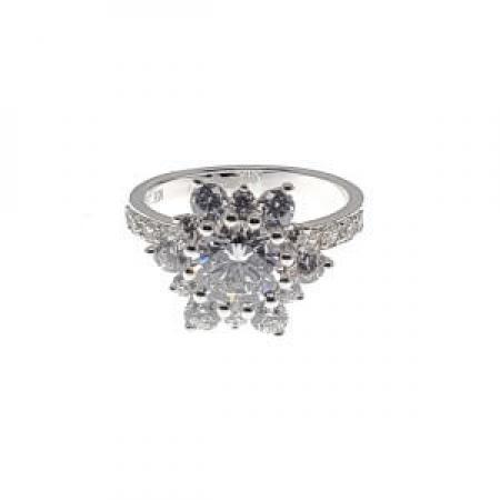 Cluster set Diamond Engagement Ring2 (2)