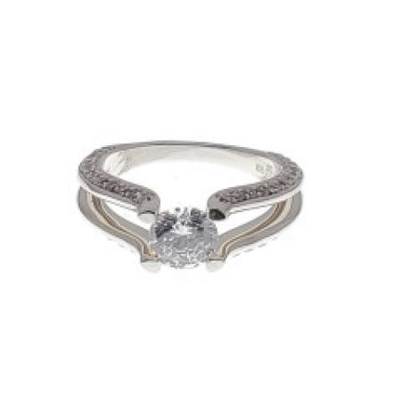 Split Shank Engagement Ring with Side Diamonds