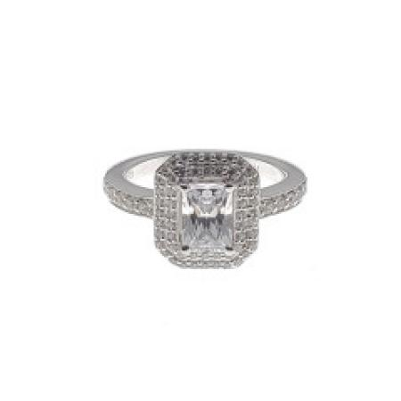 Radiant Double Halo Diamond Engagement Ring