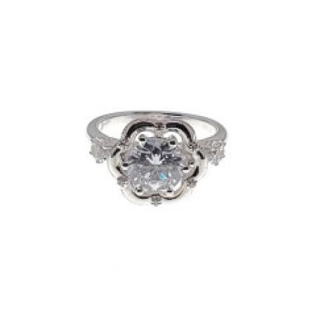 Milgrain and Crown Diamond Engagement Ring