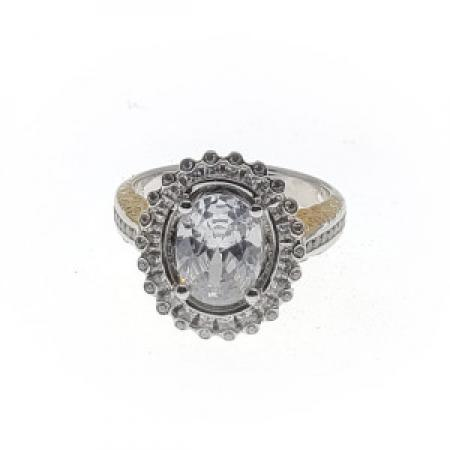 Double Oval Halo Ring With Filigree