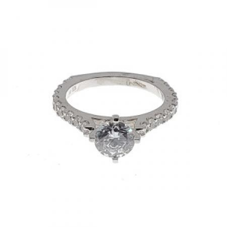 Diamond Engagement Ring With Euro Shank