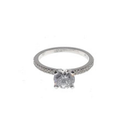 Micro Prong Diamond Engagement RIng