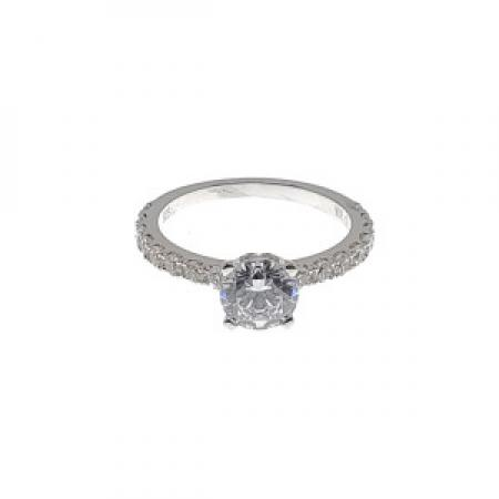 Classic Diamond Engagement Ring With Prong Set Diamonds