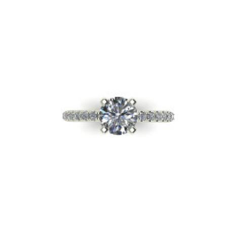 French Tipped Engagement Ring with .23 ct tw