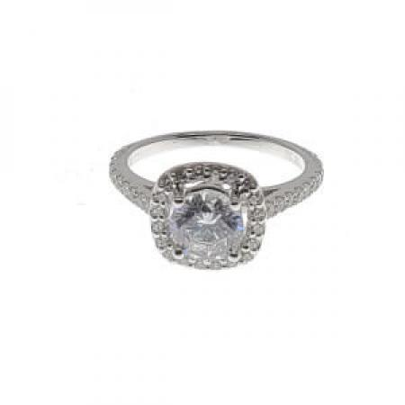 cushion halo engagement ring with milgrain and side stones (1)