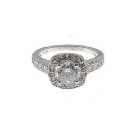 Cushion Cut Halo Engagement Ring with Under Design(test)