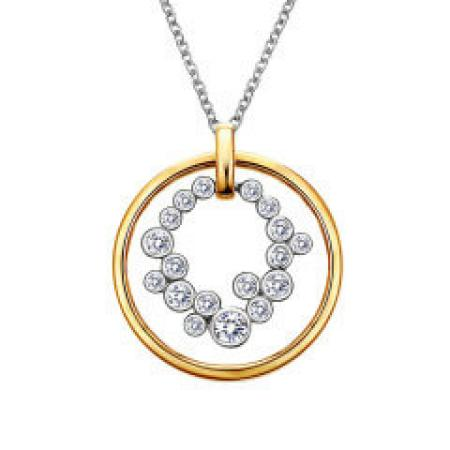 lafonn .66ctw simulated diamond circle necklace