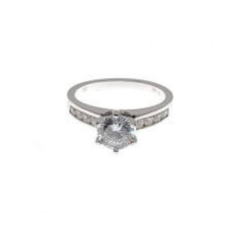 classic channel set engagement ring (2)