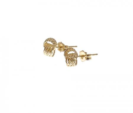 14kt YG textured knot earrings